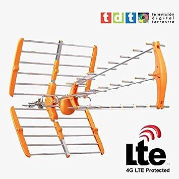 Antena exterior digital TV HD con filtro LTE / DBT: Amazon.es ...