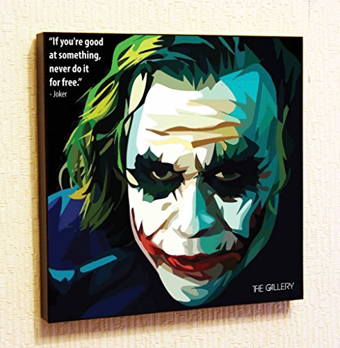 Joker (Heath Ledger) Marvel DC comics Super Hero Motivational Quotes Wall Decals Pop Art Gifts Portrait Framed Famous Paintings on Acrylic Canvas Poster Prints Artwork Geek Decor Wood
