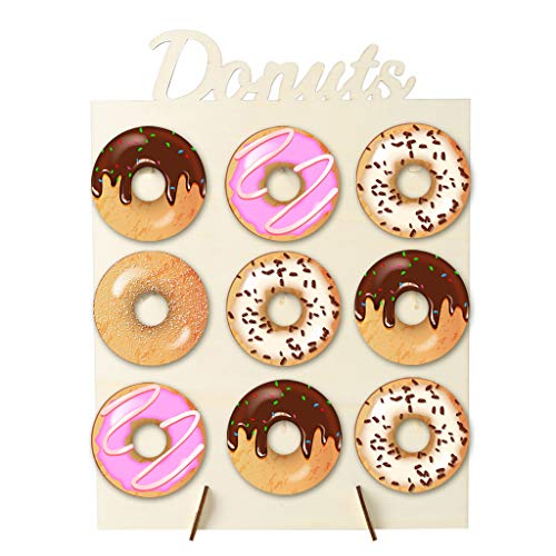 wenjuersty Donut Wall Display Stand Holder Candy Sweet Cart Doughnut Birthday Wedding Party Favour Supplies Home Decor