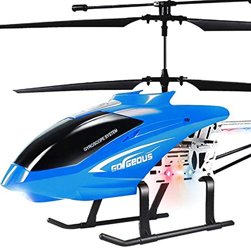 Kikioo 3.5CH Huge RC Airplane Drone Outdoor Parent-Child Remote Control Alloy Helicopter Charging Electric Suspension Child Boy Resistance to Fall Pressure Aircraft Boys Girls Adults Flying Toys Red