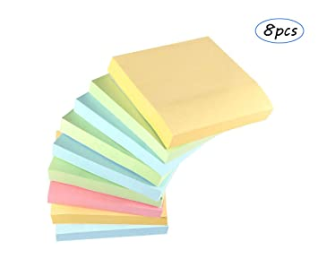 """3/"""" x 3/"""" Memo Pad with 50 Sticky Post It Notes 76x76mm"""