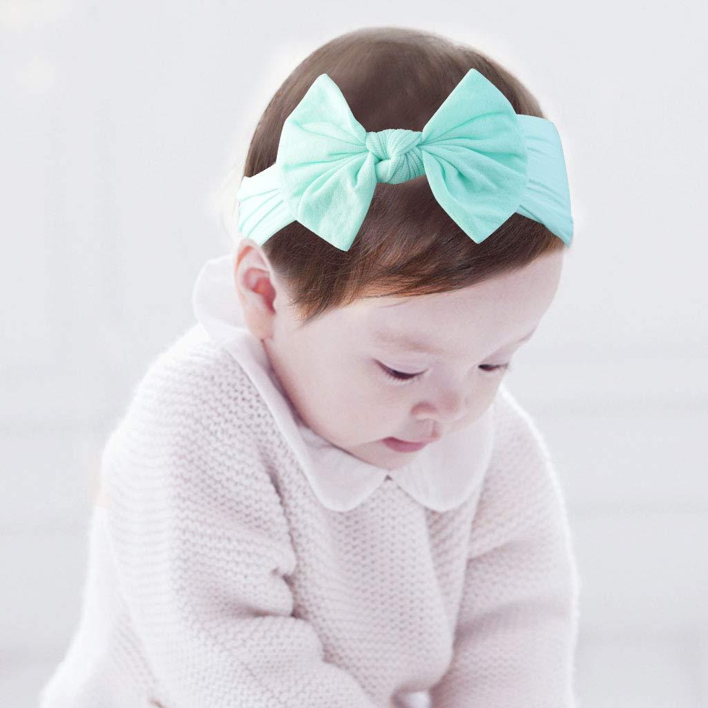 8 Pezzi Bambino Fasce Capelli Fascia Elastica Bowknot Neonata Cerchietti Cotone per Bambine