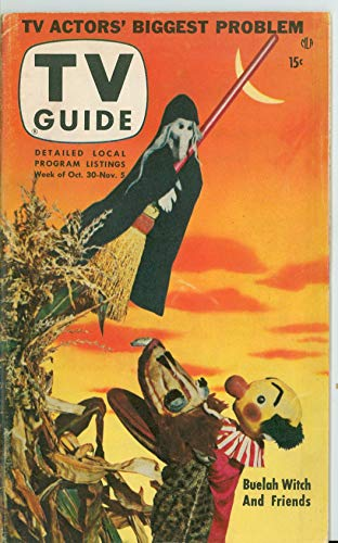 1953 TV Guide Oct 30 Kukla and Buelah Witch - Cincinnati-Dayton Edition Excellent (5 out of 10) Lightly Used by Mickeys Pubs