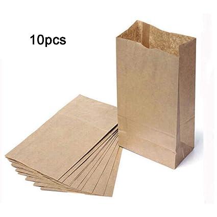 Bolsas de papel kraft marrón - Bolsa de comestibles de papel ...