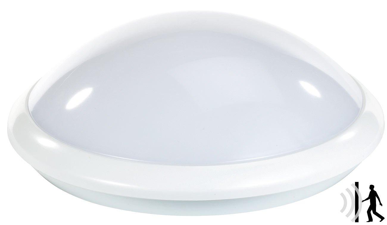Luminea Deckenlampe mit Sensor: Deckenlampe mit Radar-Bewegungssensor, E27, max. 60 W, IP44 (Deckenlampe mit Bewegungsmelder) [Energieklasse A++]