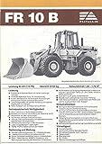 1980 ? Fiat Allis FR10B Loader Tractor Brochure