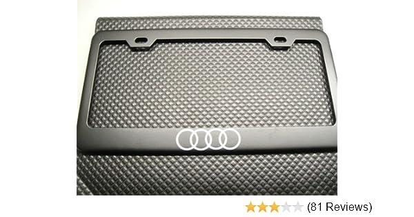 Audi 4 Rings Logo Metal Chrome License Plate Frame