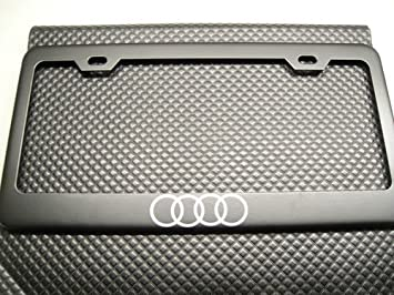 Amazoncom Audi Ring Logo Black License Plate Frame Automotive - Audi license plate frame