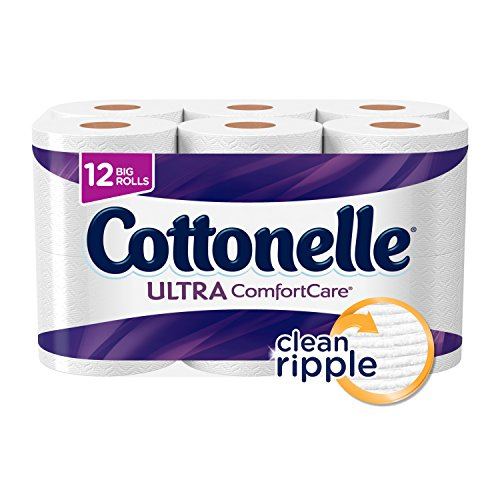 Roll Bath Tissue (Cottonelle Ultra ComfortCare Big Roll Toilet Paper, Bath Tissue, 12 Toilet Paper Rolls)
