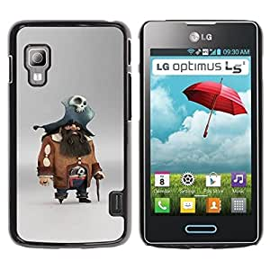 Estuche Cubierta Shell Smartphone estuche protector duro para el teléfono móvil Caso LG Optimus L5 II Dual E455 E460 / CECELL Phone case / / pirate skull character pc game captain /