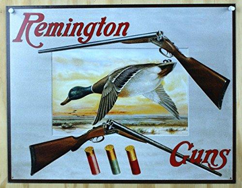 Poster Discount Remington Shotguns Duck Hunting Sporting Cartridges Rifles Retro Vintage Tin Sign, 16x13