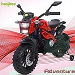 Baybee Adventure Battery Operated Bike for Kids/Toddler/Children Ride on Bike for Kids/Boys Toy Motor Bike for Kids-Electric Bike for Kids Suitable for Boys & Girls 2-6 Years (Blue)