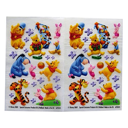 Winnie the Pooh and Friends - Colourful Creative Rub on Transfer Stickers - 2 Sheets