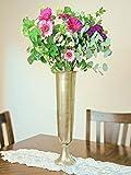Richland Tall Gold Trumpet Vase 23''