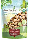 Food to Live Organic California Pistachios (In Shell, Dry Roasted with Sea Salt, Non-GMO, Kosher, Bulk) (2 Pounds)