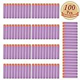 EC2BUY 100pcs 7.2cm Refill Bullet Darts for Nerf N-strike Elite Series Blasters Kid Toy Gun - Purple