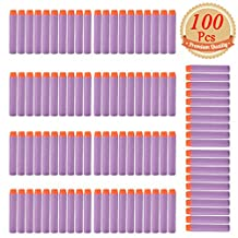 EC2BUY 100pcs 7.2cm Refill Bullet Darts for Nerf N-strike Elite Series Blasters Kid Toy Gun - Purple