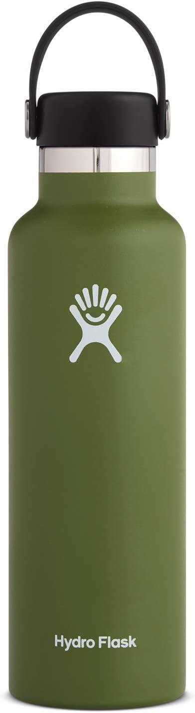 Hydro Flask 二層式真空断熱ステンレススチール製ウォーターボトル 漏れにくい スポーツドリンク用 標準サイズの口 ビスフェノール-A不使用 フリーフレックスキャップ付き 21 oz (621 ml) Standard Mouth