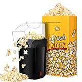 Popcorn Maker, TOPELEK Oil Free Air Popcorn Popper Machine with Three Large Paper Bags