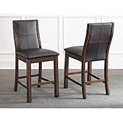 Greyson Living Tempe Faux Leather 24-inch Counter-Height Dining Stools (Set of 2) by