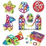 66 PCS Magnetic Building Blocks Toys Kids Magnets Stacking Blocks