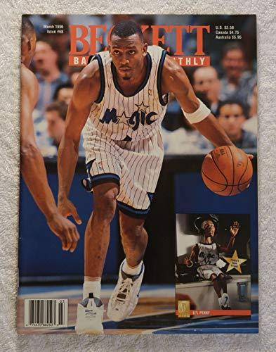 "Anfernee""Penny"" Hardaway - Orlando Magic - Beckett Basketball Monthly Magazine - #68 - March 1996 - Back Cover: Damon Stoudamire (Toronto Raptors)"