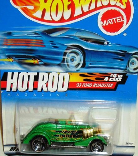 Wheels 2000 Magazine (Hot Wheels 2000 Hot Rod Series '33 Ford Roadster #008)