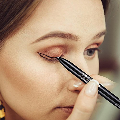 Waterproof Eyebrow Pencil Black + Grey + Coffee + Brown Colors Long Lasting Eye Brow Eyeliner Pencil Kit ()
