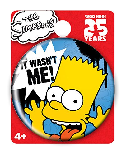 Simpsons The Bart Single Button Pin Action - Pins Simpsons