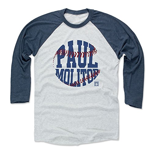 Paul Molitor Classic - 500 LEVEL Paul Molitor Baseball Tee Shirt X-Large Indigo/Ash - Vintage Minnesota Baseball Raglan Shirt - Paul Molitor Threads B