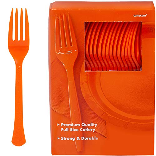 Amscan Big Party Pack 100 Count Mid Weight Plastic Forks, -