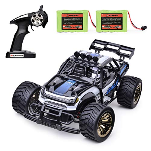 Remote Control Car Toy, 1:16 RC Vehicles 2.4GHz Radio Remote Control Truck 15KM/H High Speed Monster Crawler with 2 Rechargeable NI-MH Battery Racing Toy Car for All Adults and Kids(Blue)