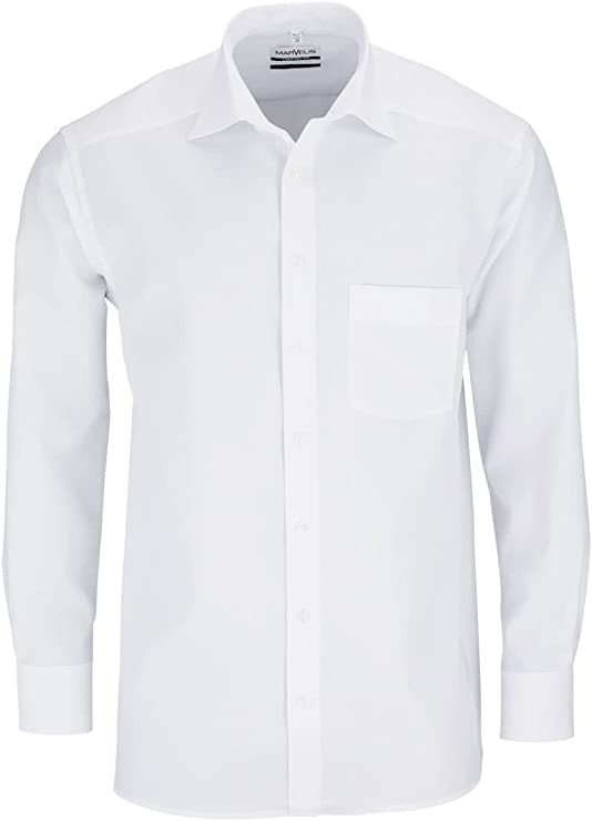 Marvelis - Camisa formal - Básico - Clásico - Manga Larga - para hombre: Amazon.es: Ropa y accesorios