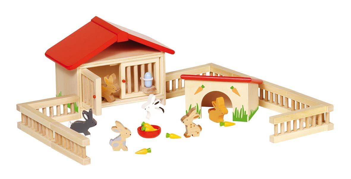 Goki Puppenhaus - Goki Hasenstall