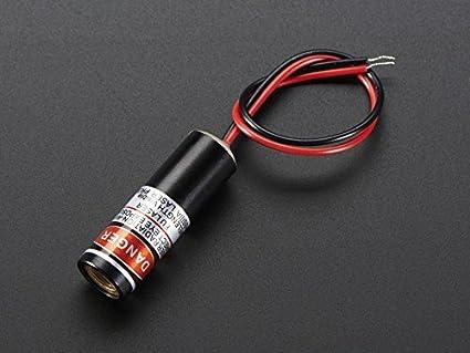 Adafruit Line Diodo láser - 5 mW 650 nm Red [ada1057]: Amazon.es ...