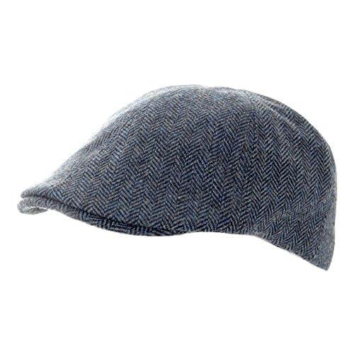1fefe912d Patrimonio tradiciones Herringbone Tweed de color azul Panel Gorra Sombrero...  De alta calidad