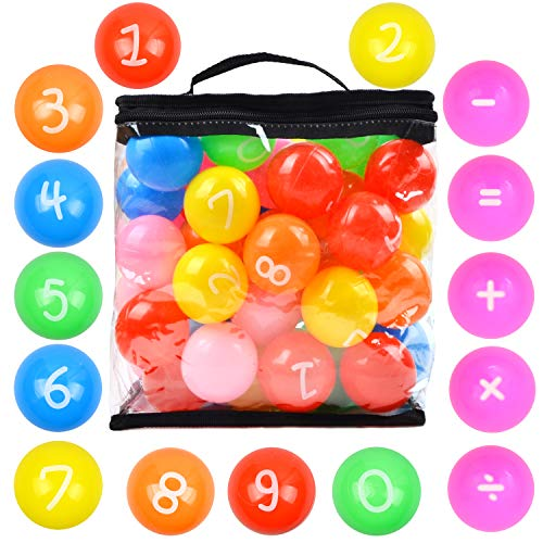 Youngever 60 Pack Pit Balls, Phthalate Free BPA Free Crush Proof Plastic Ball, Bright Colors Ball Pit, Fun and Educational (Multi-Color Number)