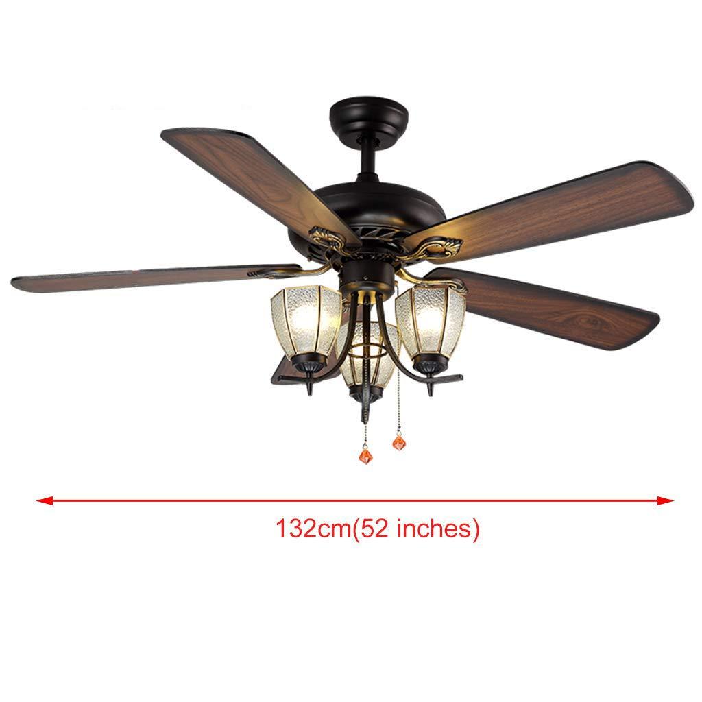 Amazon com q xhc american style restaurant home fan light nordic style living room kitchen ceiling fan light chandelier home kitchen