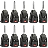 Car Key Fob Keyless Entry Remote fits Chrysler, Dodge, Jeep, Mitsubishi (OHT692427AA 3-btn), Bulk Lot of 10