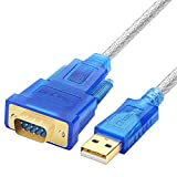 pzsmocn USB 2.0 to RS232 DB9 Serial Adapter Cable 3.0m with CD / PL2303 Chipset / Support 98/ME/2000/2003/2008/Andoid/XP/win7 8 8.1 10//Mac OS/Linux