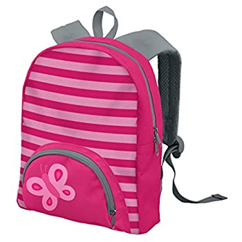 "green sprouts Backpack, Pink Butterfly, 8.625"" x 11"" x 3"""
