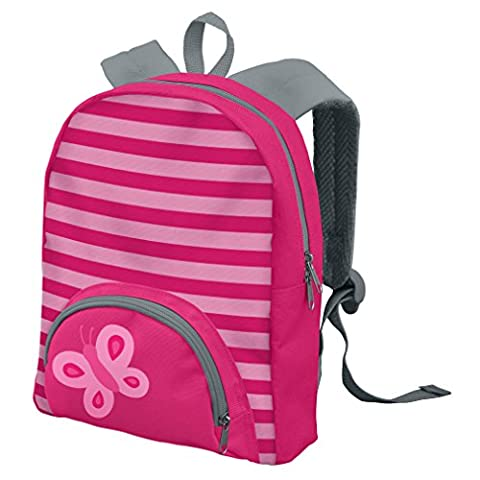 green sprouts Backpack, Pink Butterfly, 8.625