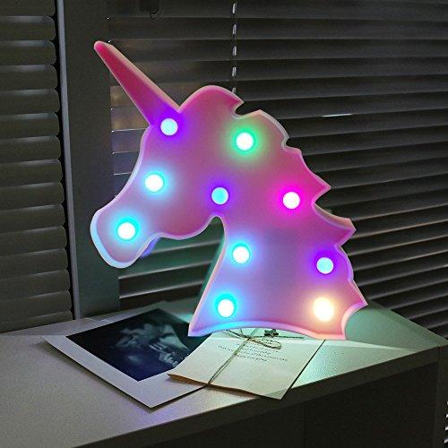 AIZESI Unicorn Lights,Led Unicorn Lamps,Marquee Battery Operated ...