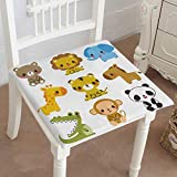 Mikihome Premium Chair Cushion Animal Set Comfort Memory PadCushions - Assorted Colors 32''x32''x2pcs