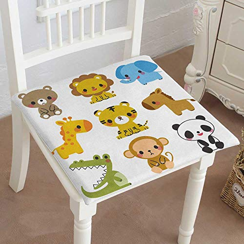 Mikihome Premium Chair Cushion Animal Set Comfort Memory PadCushions - Assorted Colors 32''x32''x2pcs by Mikihome