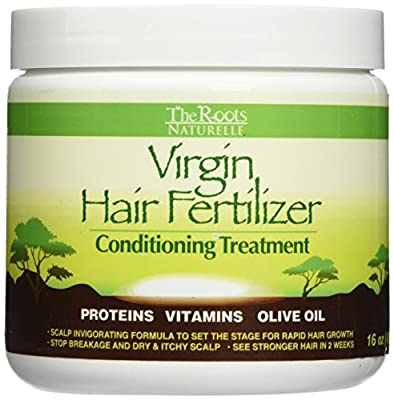 The Roots Naturelle Virgin Hair Fertilizer Conditioning Treatment - Helps Strengthen Hair, Promote Rapid Hair Growth and Protect/ Restore Damaged Hair