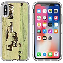 Luxlady Apple iPhone X Clear case Soft TPU Rubber Silicone Bumper Snap Cases iPhoneX IMAGE ID 30719401 Horses in the mountains equine nag hoss hack dobbin a solid hoofed plant eating domesticate