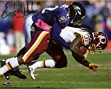 "Eric Weddle Baltimore Ravens Autographed 8"" x 10"" Tackling Photograph - Fanatics Authentic Certified"