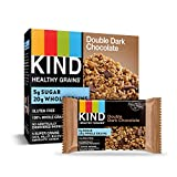 KIND Healthy Grains Bars, Double Dark Chocolate, Gluten Free, 1.2 oz, 5 Count (6 Pack)