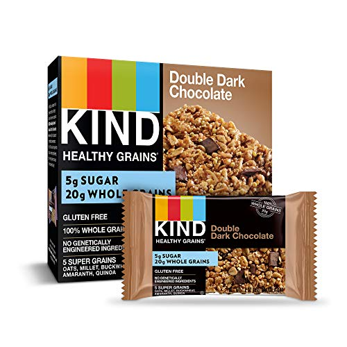 KIND Healthy Grains Bars, Double Dark Chocolate, Gluten Free, 1.2 oz, 5 Count (6 Pack) Review